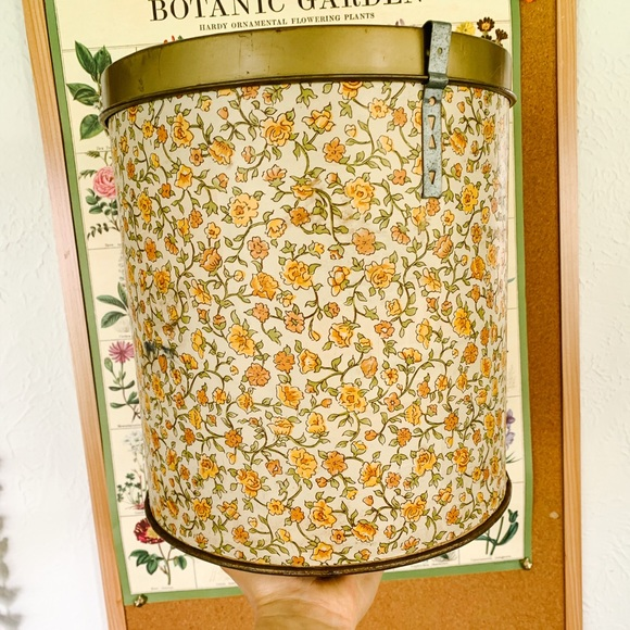 Vintage Metal and Cardboard Floral Container